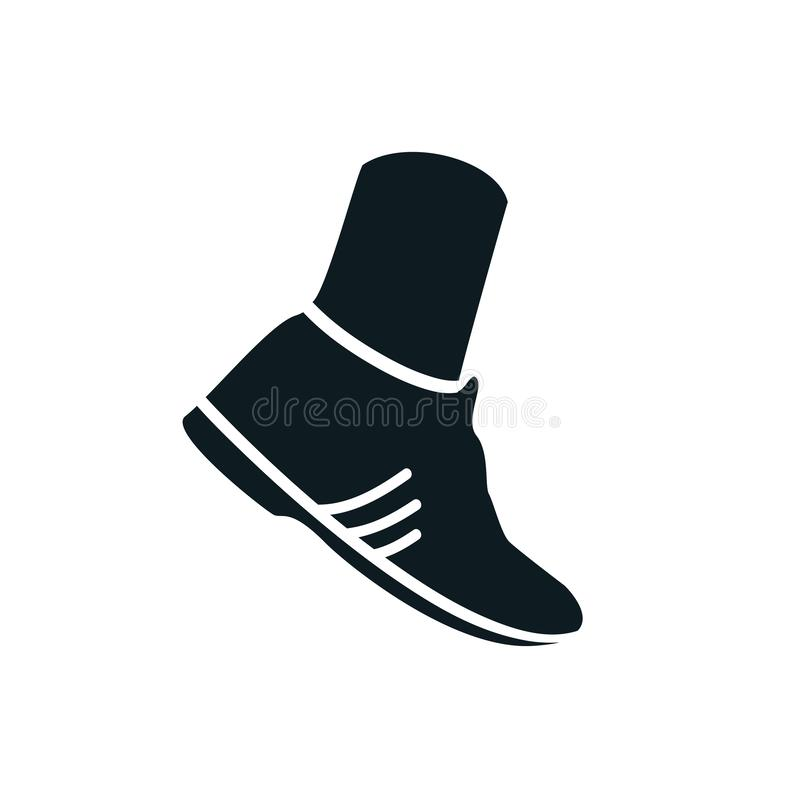 Leg with sneaker icon -. Stock royalty free illustration
