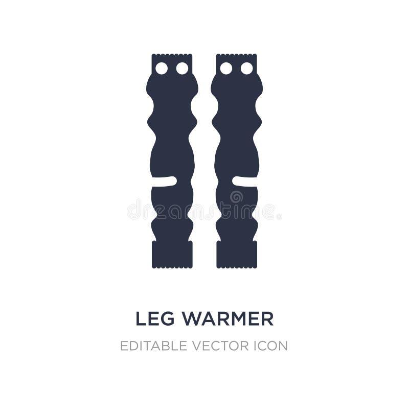 Leg warmer icon on white background. Simple element illustration from Fashion concept. Leg warmer icon symbol design royalty free illustration