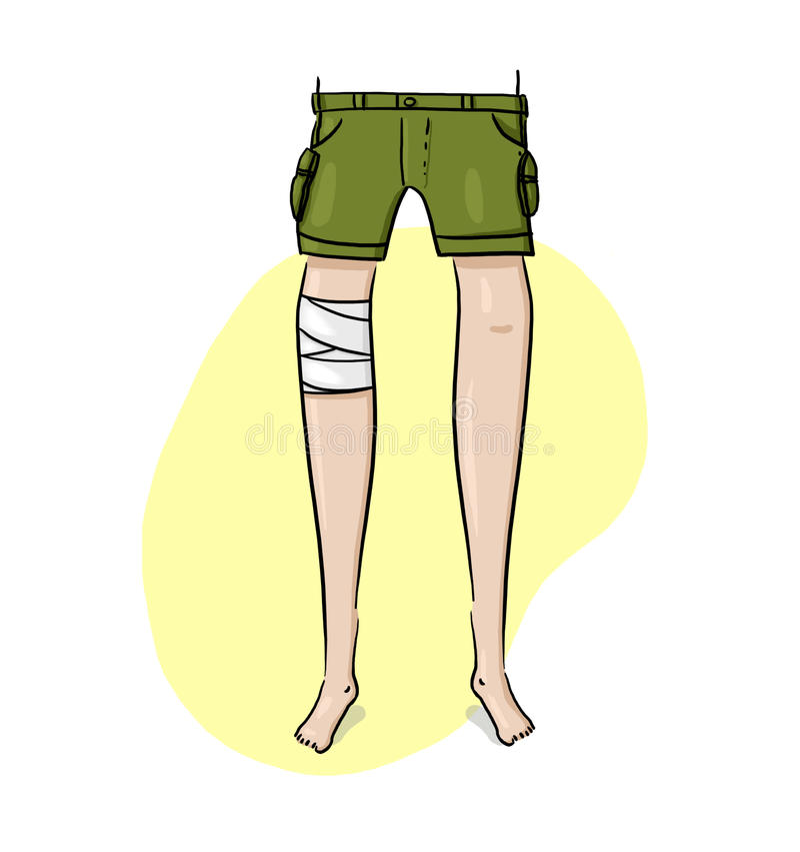 Download Leg Wrapped With Bandage Illustration Stock Illustration - Illustration: 27303573