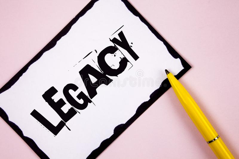 Legado do texto da escrita E foto de stock royalty free