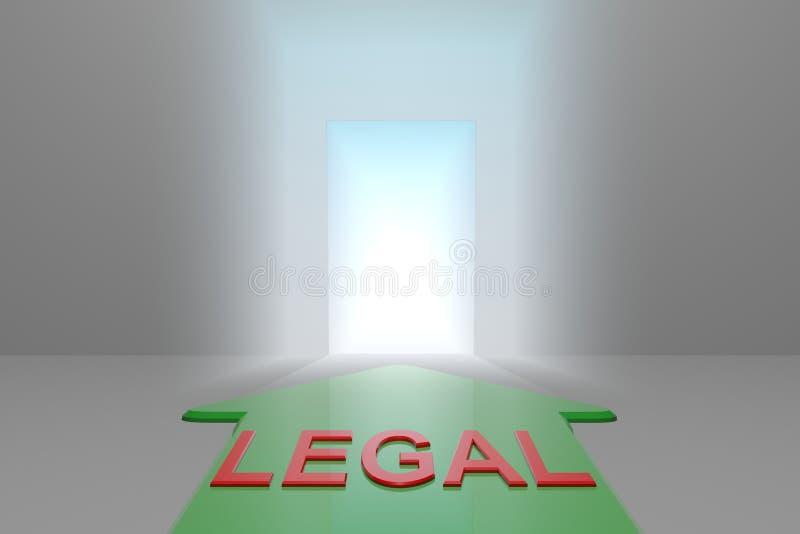 Legal à porta aberta ilustração stock