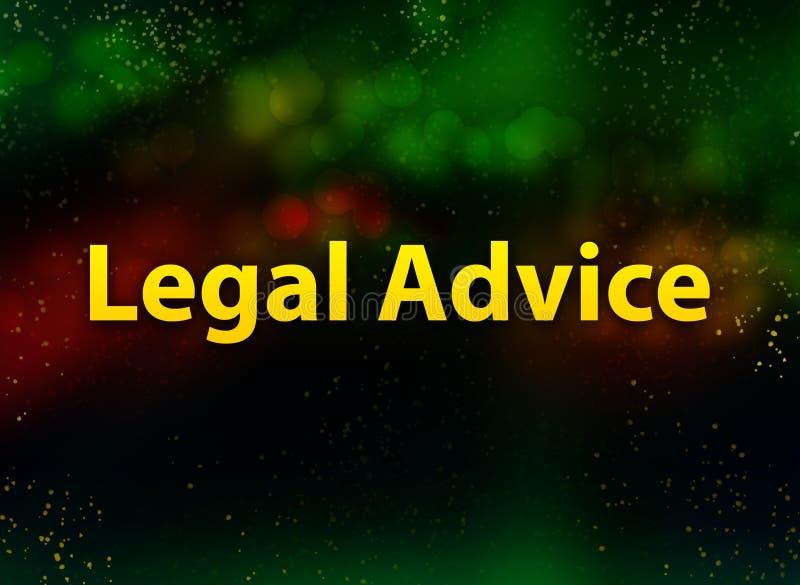Legal Advice abstract bokeh dark background vector illustration