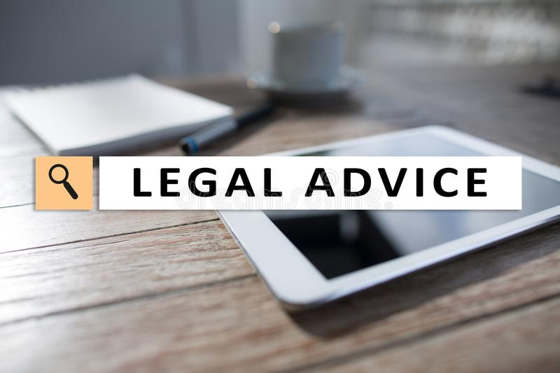 Legal advice ext on virtual screen. Consulting. Attorney at law. lawyer, Business and Finance concept. Legal advice ext on virtual screen. Consulting. Attorney royalty free stock images