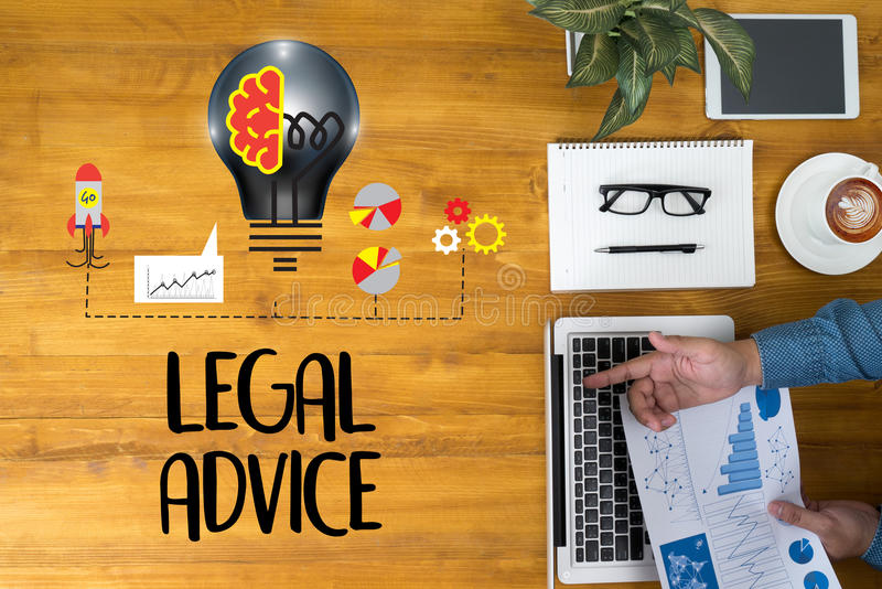 LEGAL ADVICE (Legal Advice Compliance Consulation Expertise Help stock image