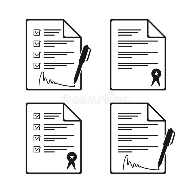 Binding Agreement Stock Illustration. Illustration Of Team