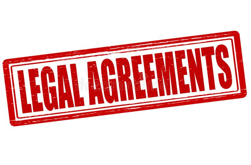 Legal agreements. Stamp with text legal agreements inside, illustration stock illustration