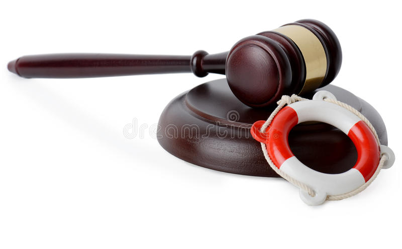Legal aid support. Concept of legal aid support isolated on a white background royalty free stock image