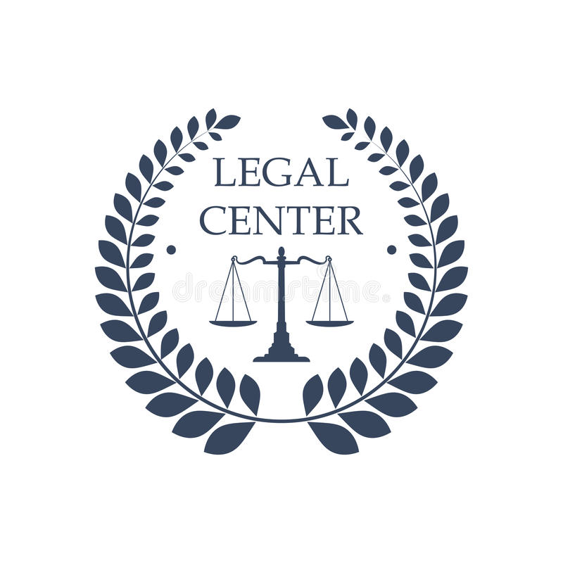 Legal center vector icon law justice scales symbol royalty free illustration