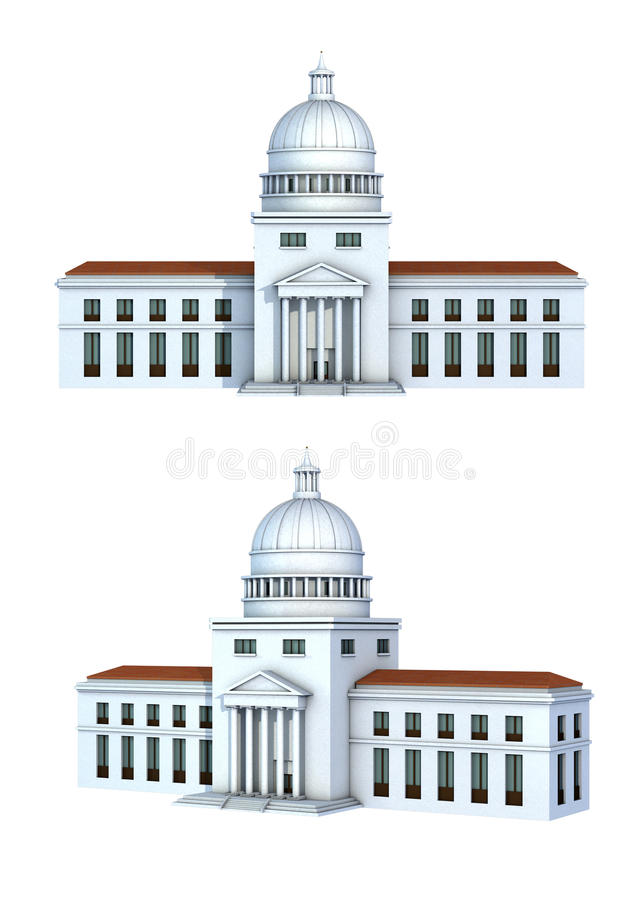 Rendering of a government building stock illustration