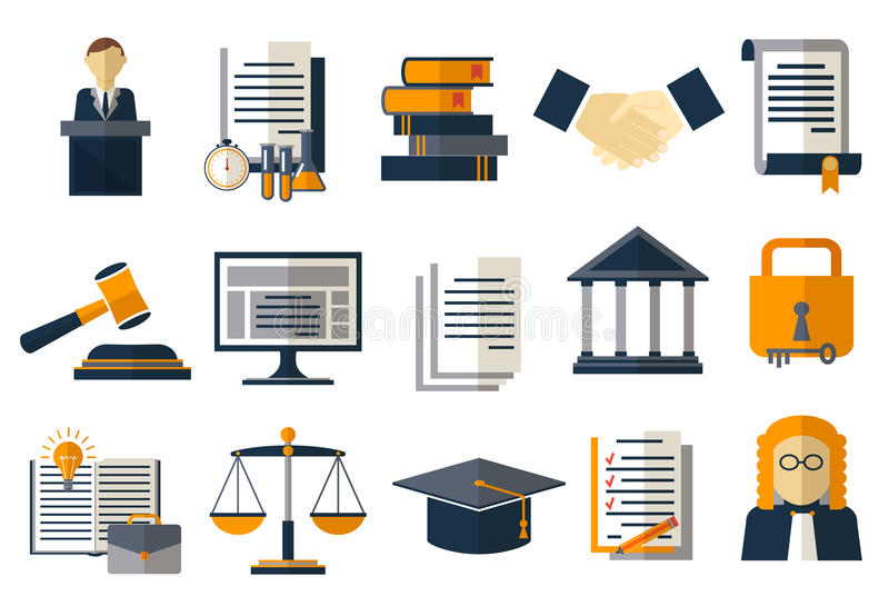 Legal compliance deal protection and copyright regulation. Copyright legal, protection and regulation, regulate compliance agreement, vector illustration royalty free illustration