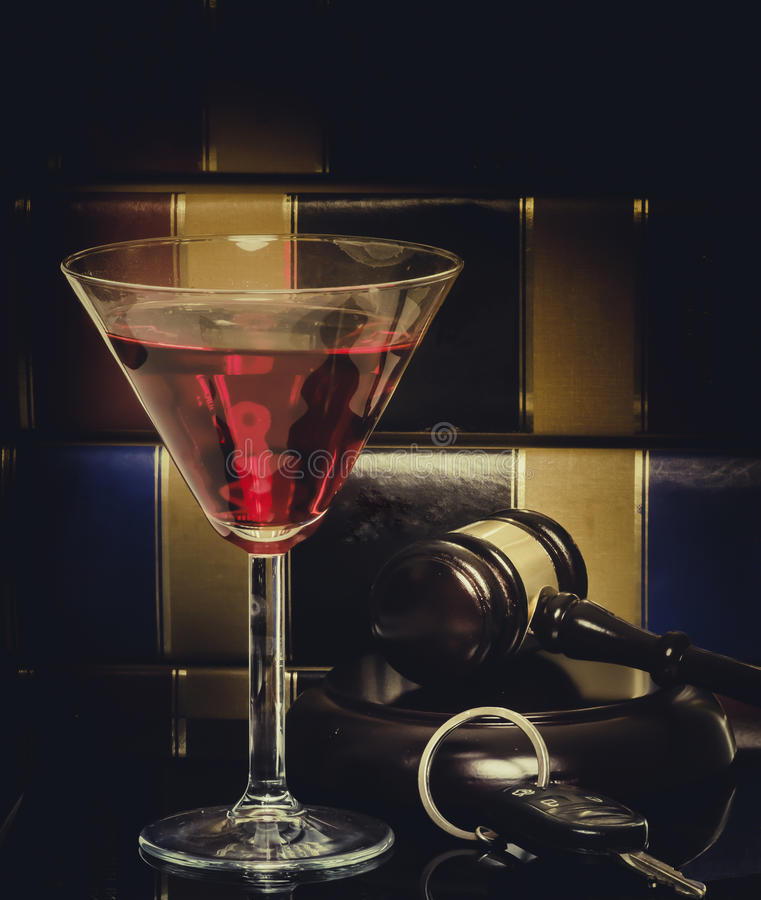 Legal concept gavel drink driving stock images