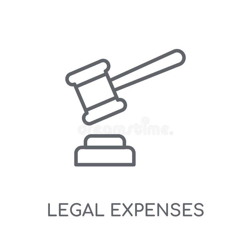 legal expenses linear icon. Modern outline legal expenses logo c stock illustration