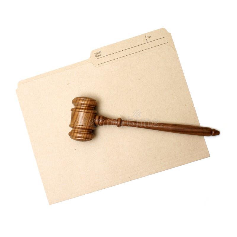 Legal Folder. A gavel and folder represent legal documents stock photo