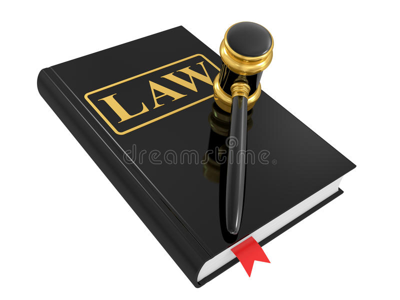Legal gavel and law book