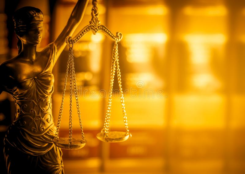 Legal law concept image, Scales of Justice, golden light. Legal law concept image, Scales of Justice, golden light background royalty free stock photos