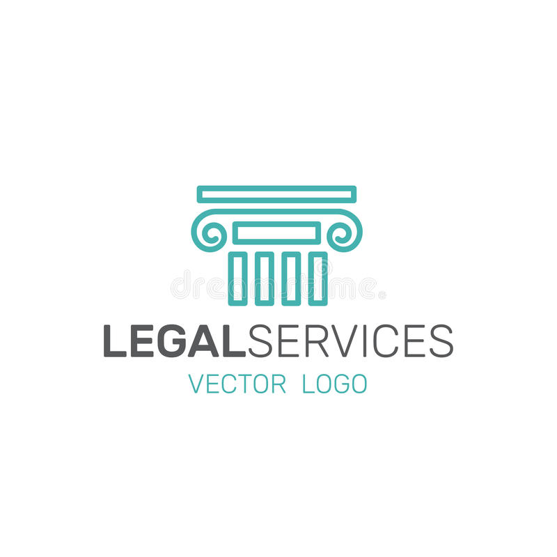 Legal Law Services, Investigation, Justice Authority stock illustration