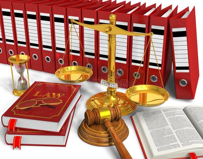 Legal o haciendo una oferta concepto stock de ilustración