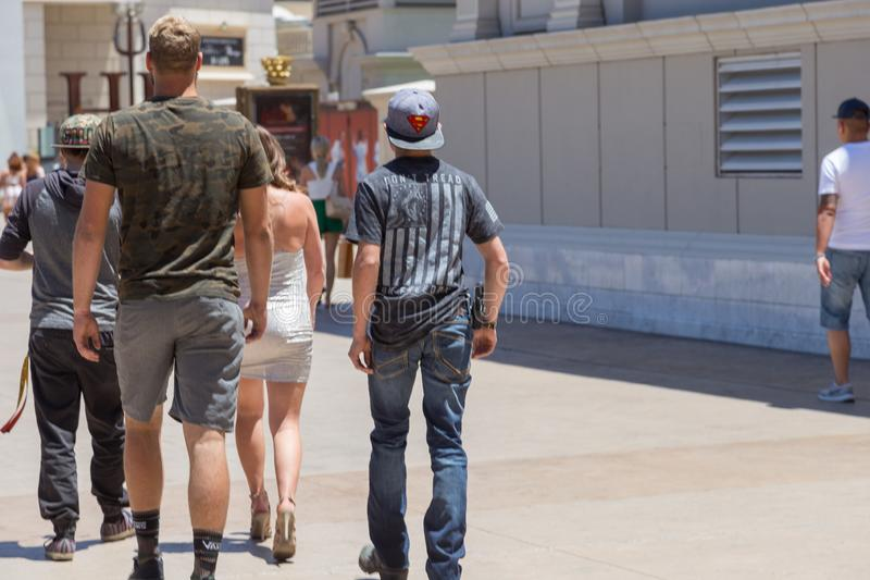 Legal Open Carry on the Las Vegas Strip royalty free stock images