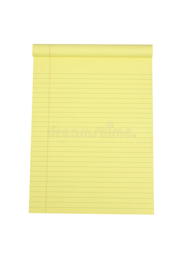 Legal Pad of Paper royalty free stock photography