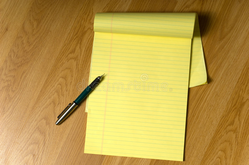 Legal Pad and Pen stock photos
