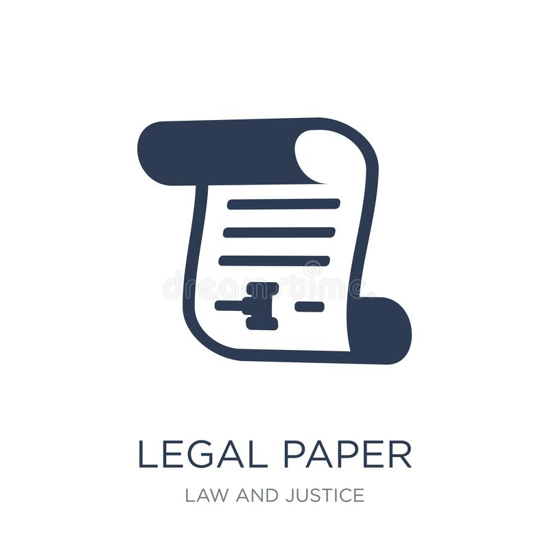 Legal paper icon. Trendy flat vector Legal paper icon on white b stock illustration