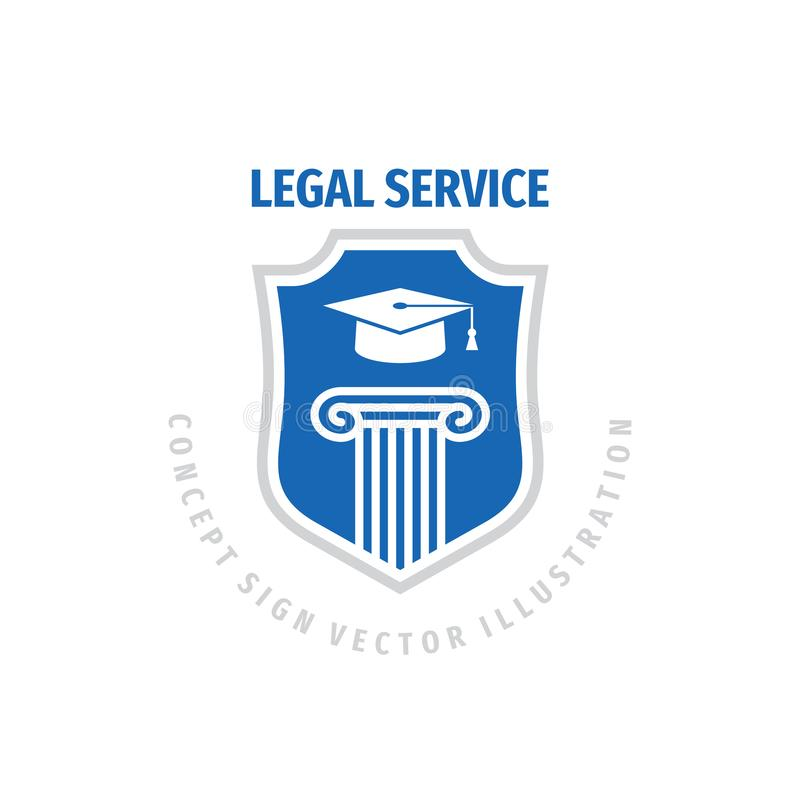 Legal service logo template design. Law firm concept badge. Justice creative sign. Vector illustration. vector illustration