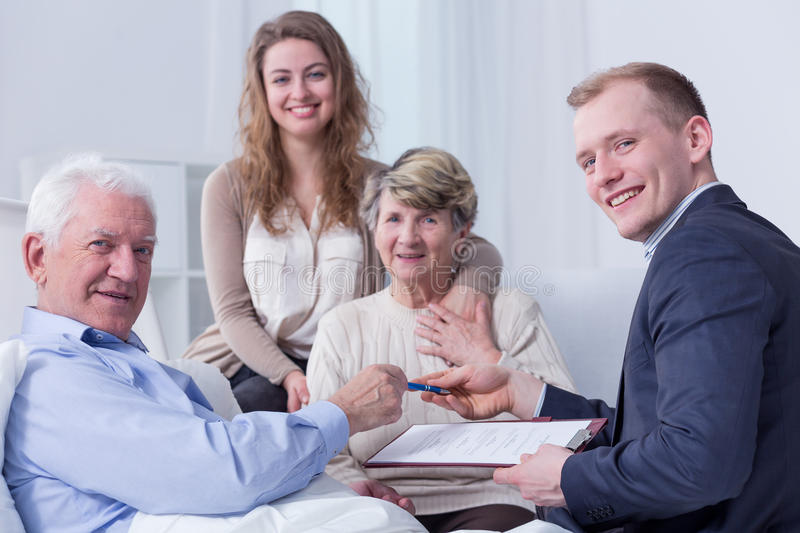 Legal support and family support royalty free stock photo