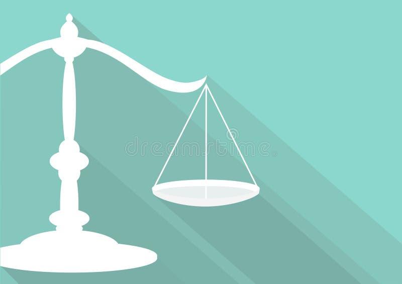 Legal symbol. Flat legal symbol modern design royalty free illustration
