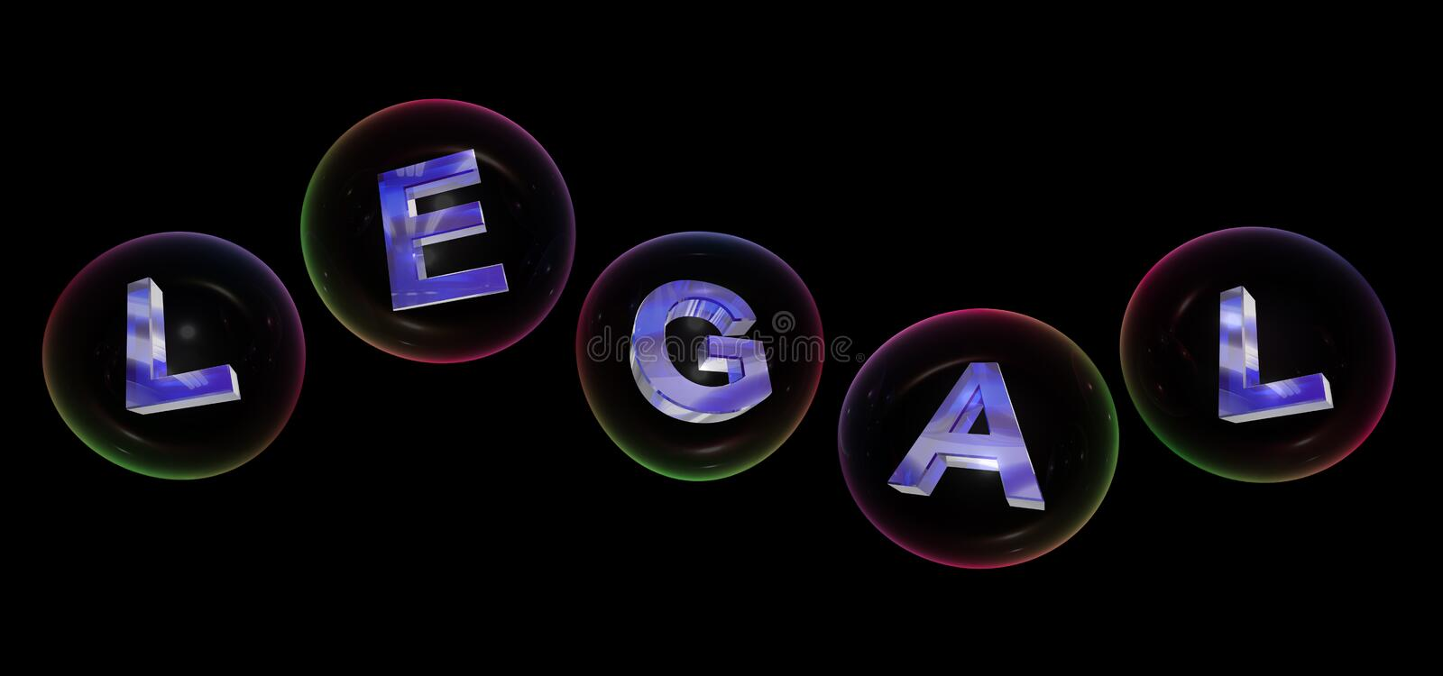 The legal word in bubble royalty free illustration