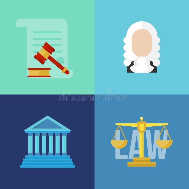 Legale Gesetzeskonzeptfahnen stock abbildung