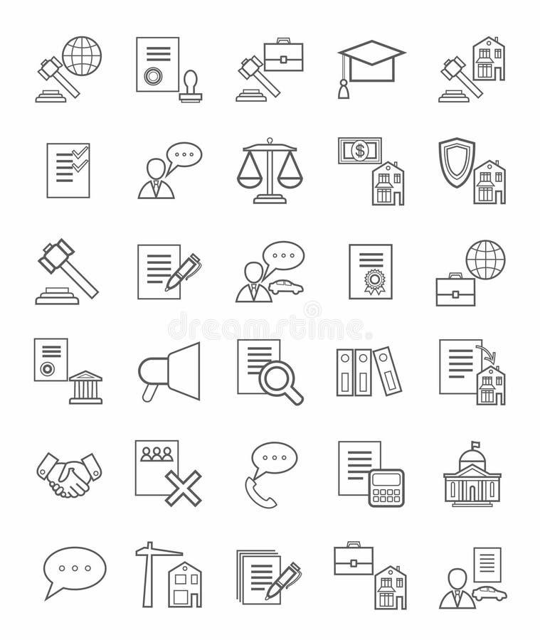 Legale Ikonen, linear, monoton lizenzfreie abbildung