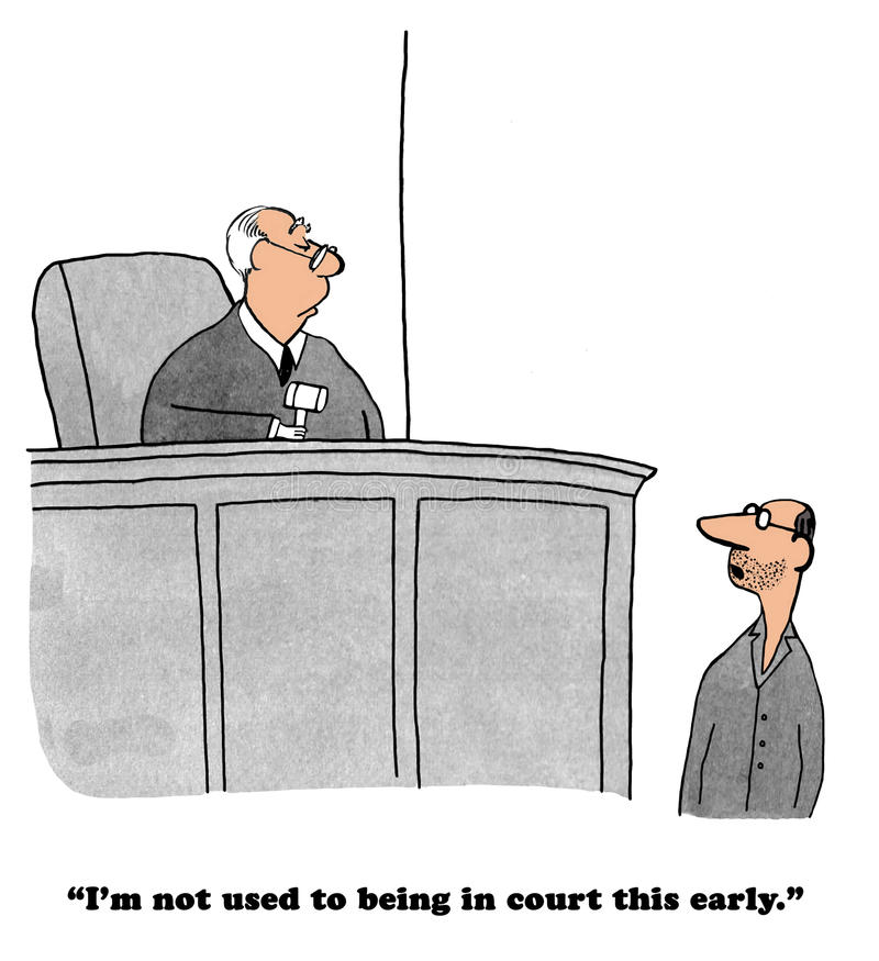 Legale Karikatur vektor abbildung