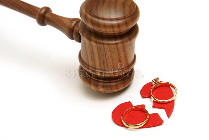 Legale Scheidung stockfoto