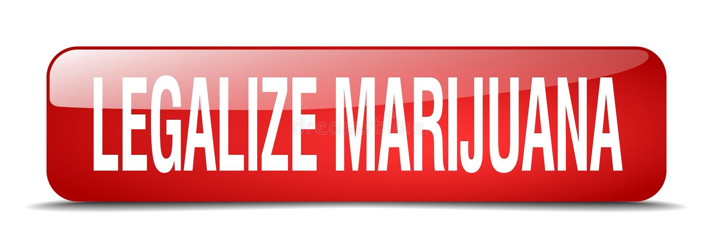 legalice el botón de la marijuana stock de ilustración