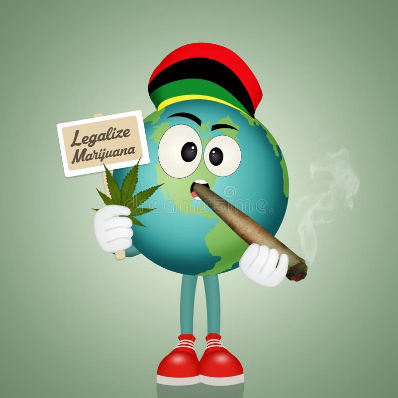 Legalice la marijuana en el mundo libre illustration