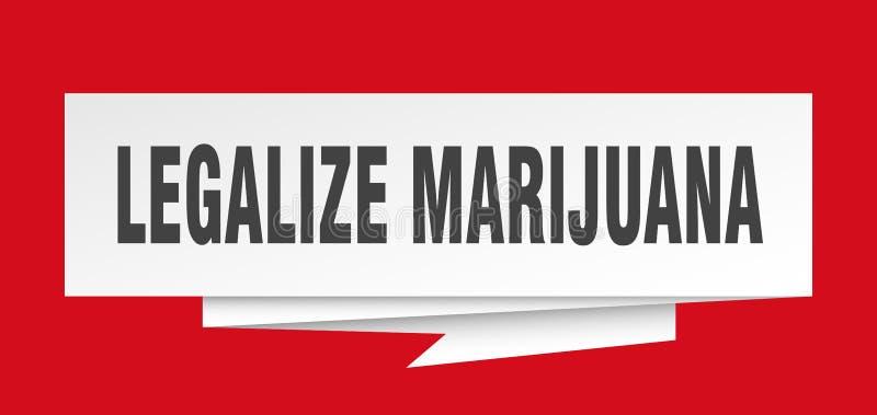 Legalisieren Sie Marihuana stock abbildung