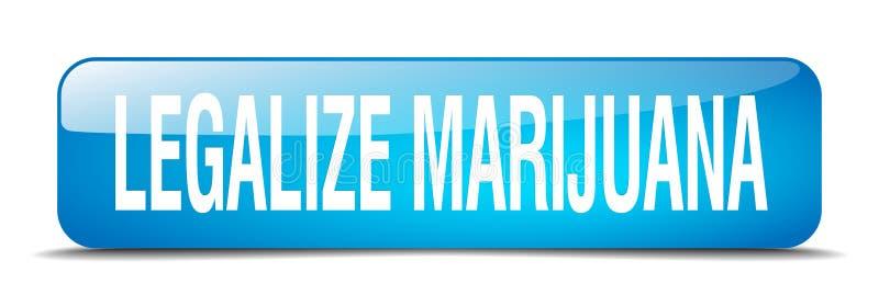 legalisieren Sie Marihuanaknopf stock abbildung