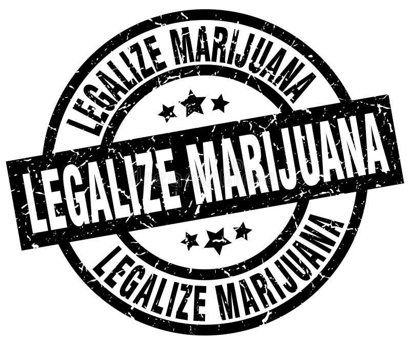 Legalisieren Sie Marihuanastempel lizenzfreie abbildung