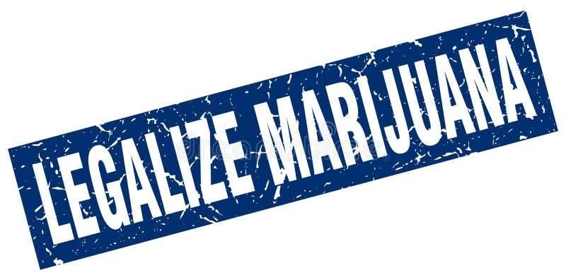 Legalisieren Sie Marihuanastempel vektor abbildung