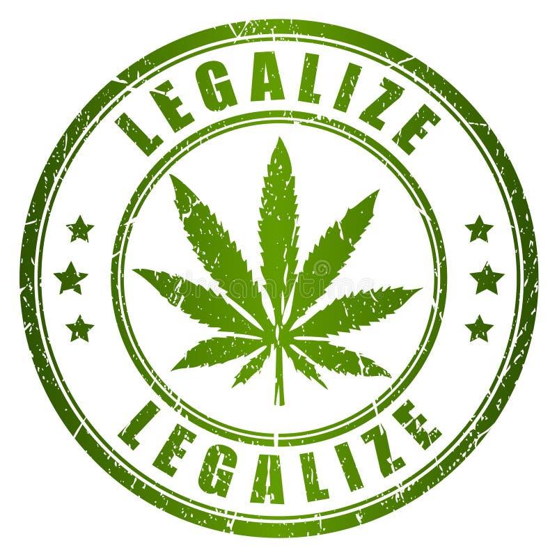 Legalisieren Sie Stempel stock abbildung