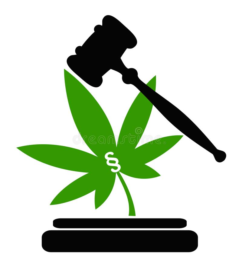 Legality of Cannabis vector illustration