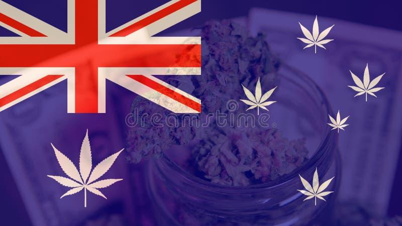 Legalizacja medyczna marihuana w Australia Marihuana eksport Australia w 2019n zdjęcie stock