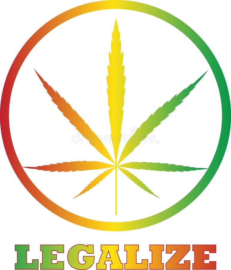 Legalize o cannabis imagens de stock royalty free