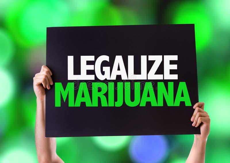 Legalizuje marihuany kartę z bokeh tłem fotografia stock