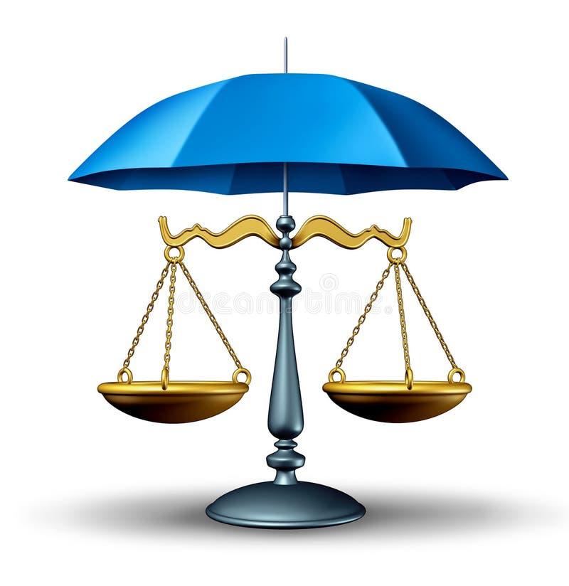 Legalna ochrona ilustracja wektor