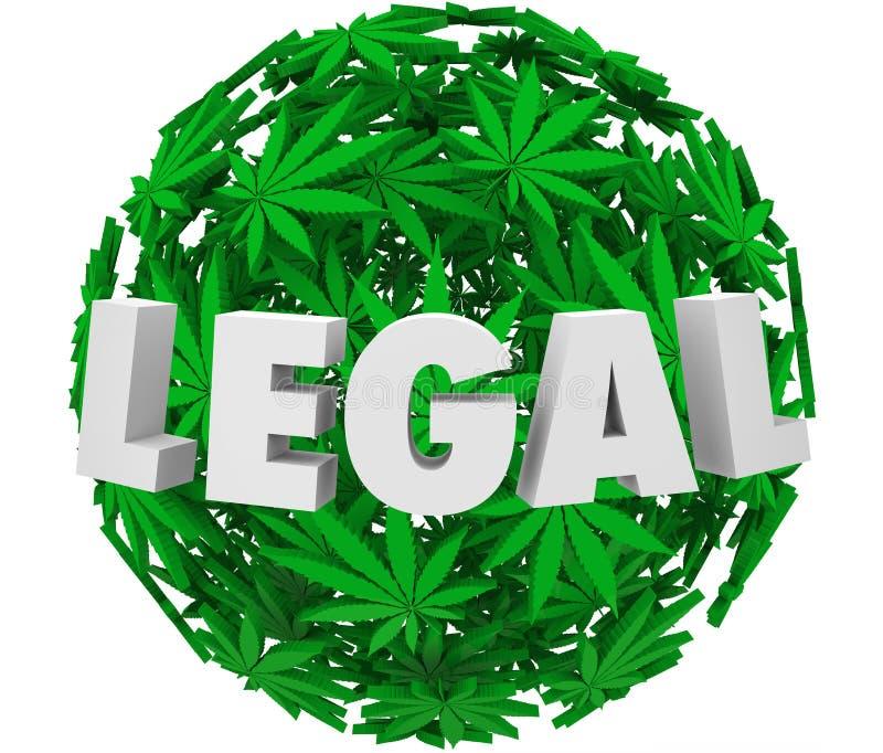 Legalnego marihuana liścia sfery Medycznego Use recepty Balowy ból R royalty ilustracja