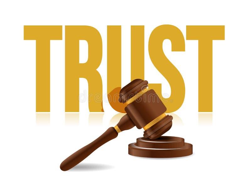legalnej zaufania pojęcia ikony ilustracyjny projekt obrazy stock