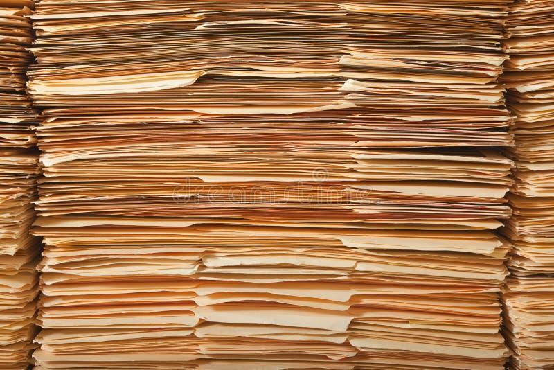 legalny kartoteka stos obraz stock