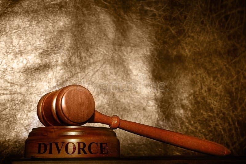 Legalny młoteczka rozwód obraz royalty free