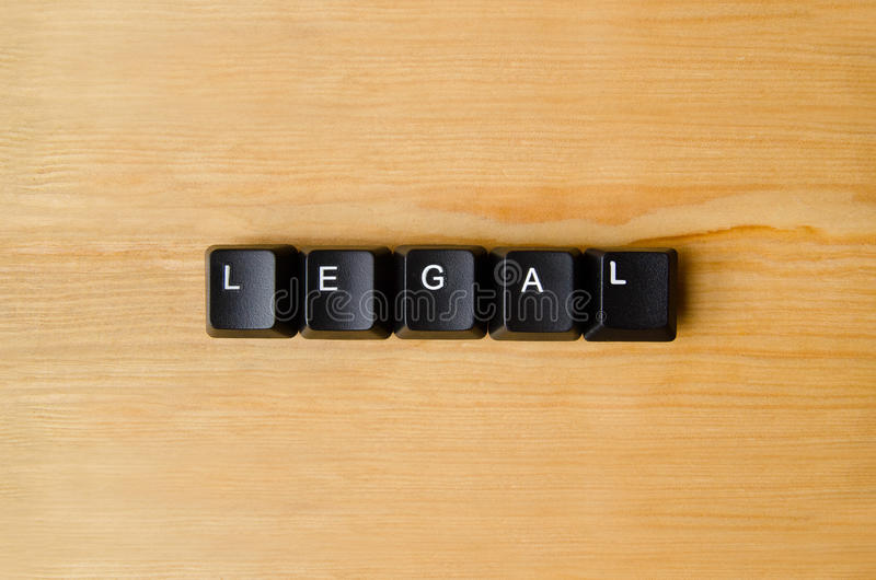 Legalny słowo obraz royalty free